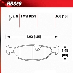 Hawk Brake Pads - HP Plus 399N.630